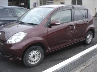 板金塗装 トヨタ パッソ 高岡市よりご来店
